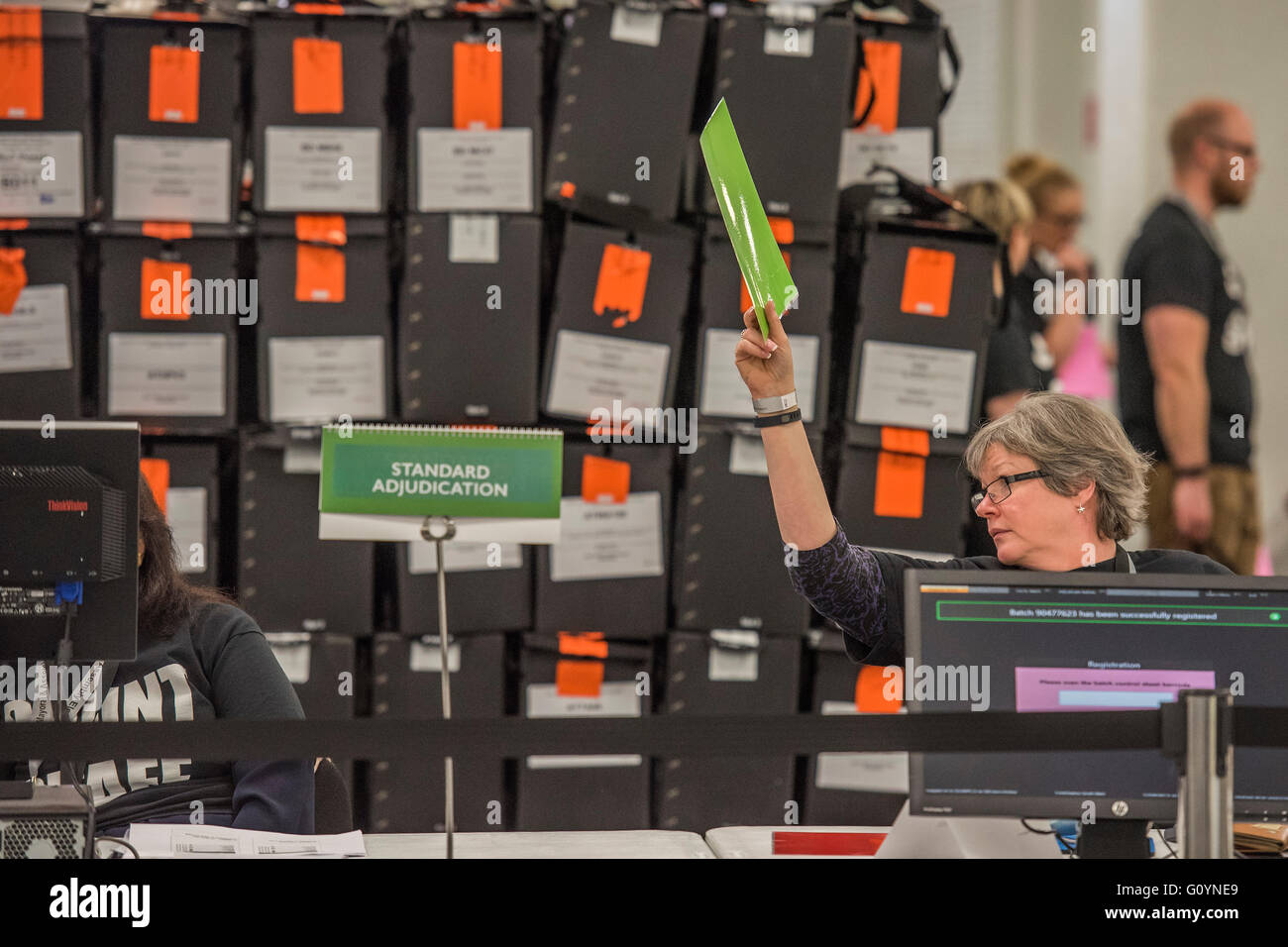 London, UK. 6th May, 2016. The adjudication area - The counts for the Mayor of London and Assembly members is carried - Stock Image