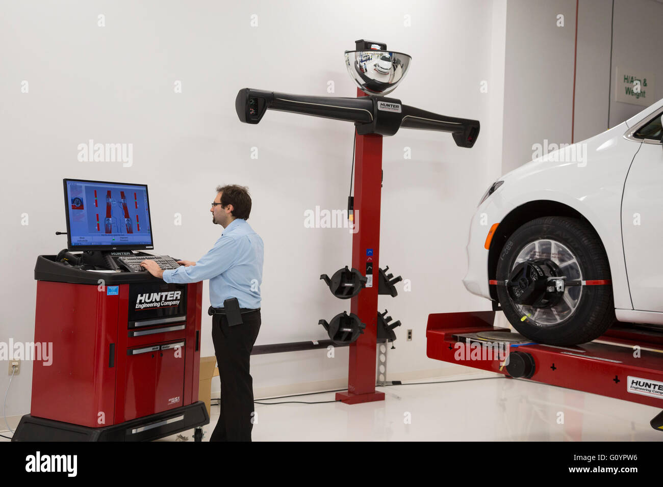 Windsor, Ontario, Canada. 6th May, 2016. The quality control center at Fiat Chrysler Automobiles' Windsor Assembly - Stock Image