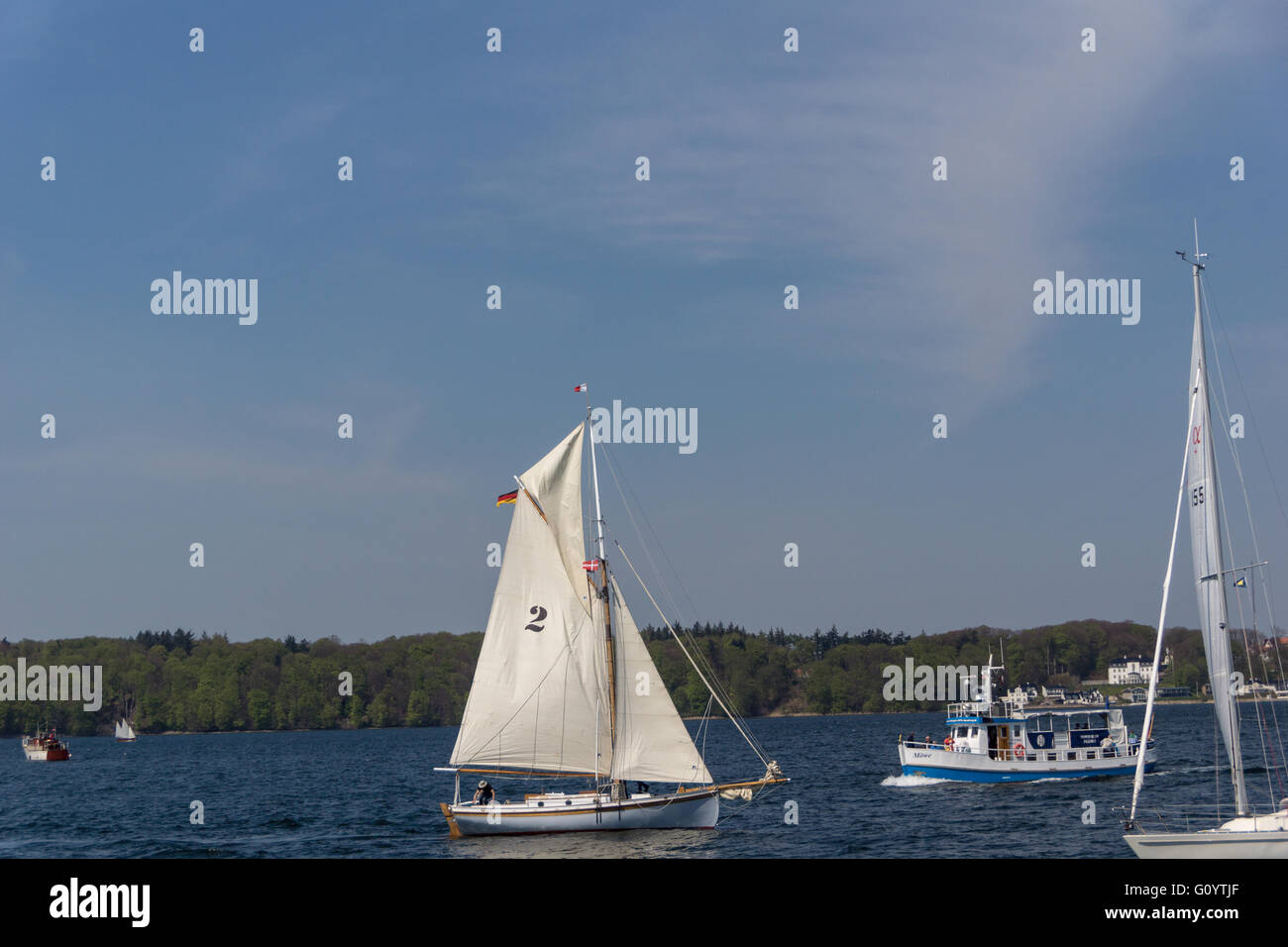 Flensburg, Germany. 6nd May, 2016. Impressions of the second Day of the Flensburg Rum Regatte 2016 with  sailing - Stock Image
