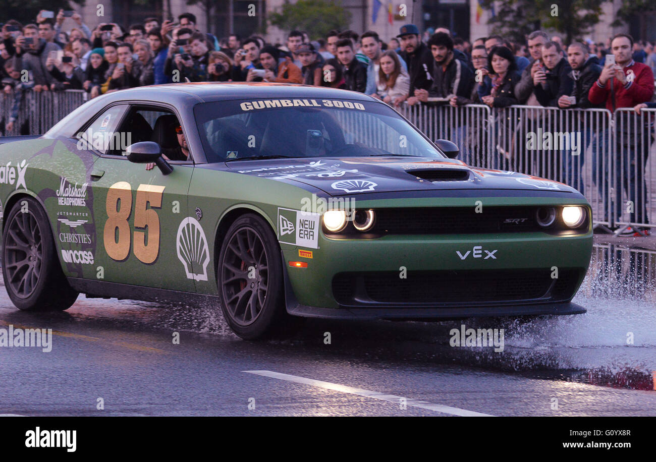 BUCHAREST, ROMANIA - 6 MAY 2016: A Dodge SRT American Muscle Car ...