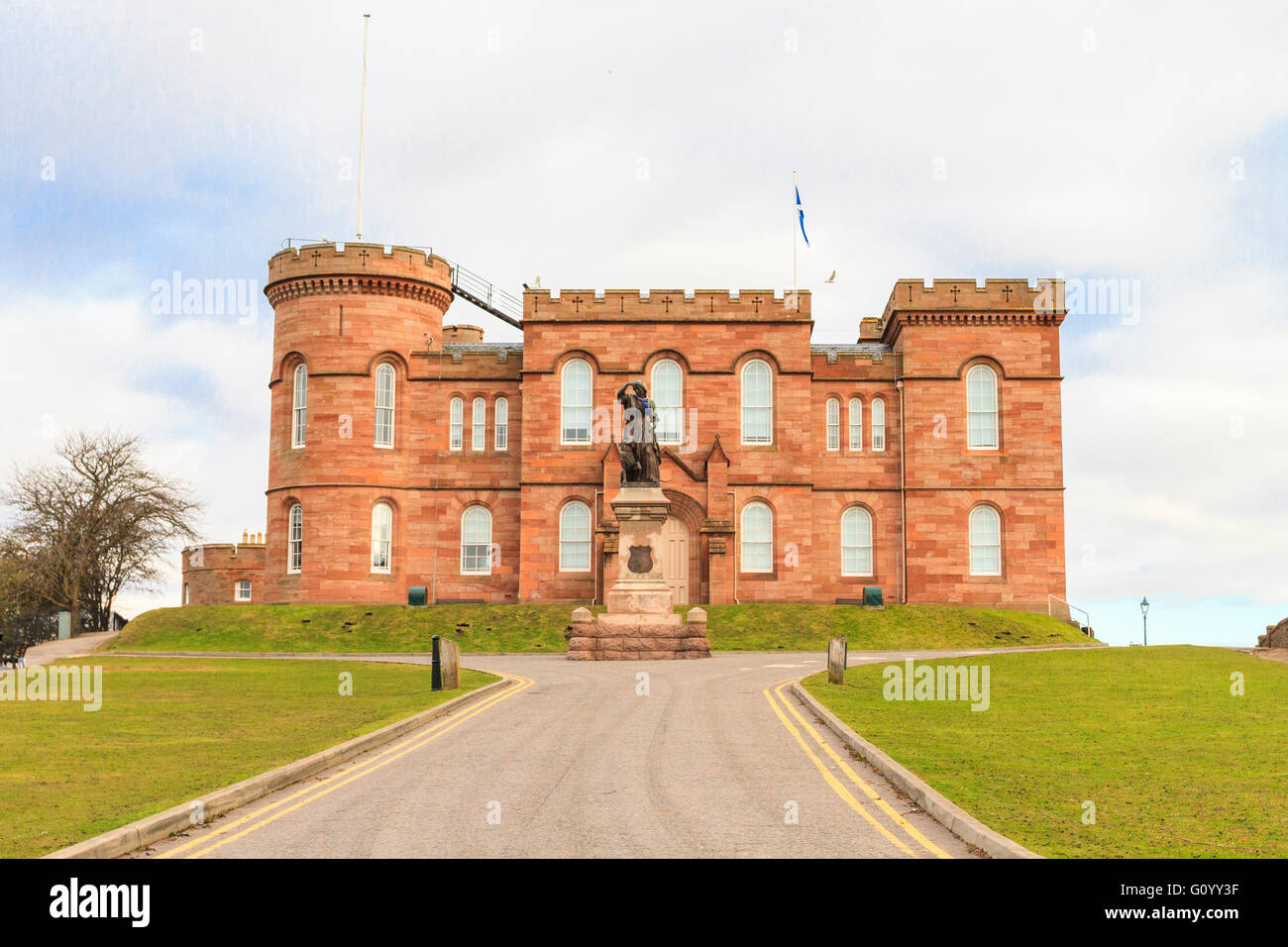 Front view of Inverness Castle, Inverness, Scotland - Stock Image