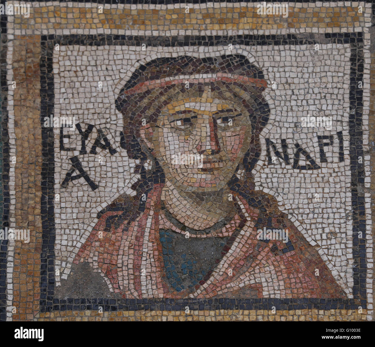 Mosaic of the Four Seasons. C. 325 AD. Found in Daphne (now Antakya, Turkey).  Louvre Museum. Paris. France. - Stock Image