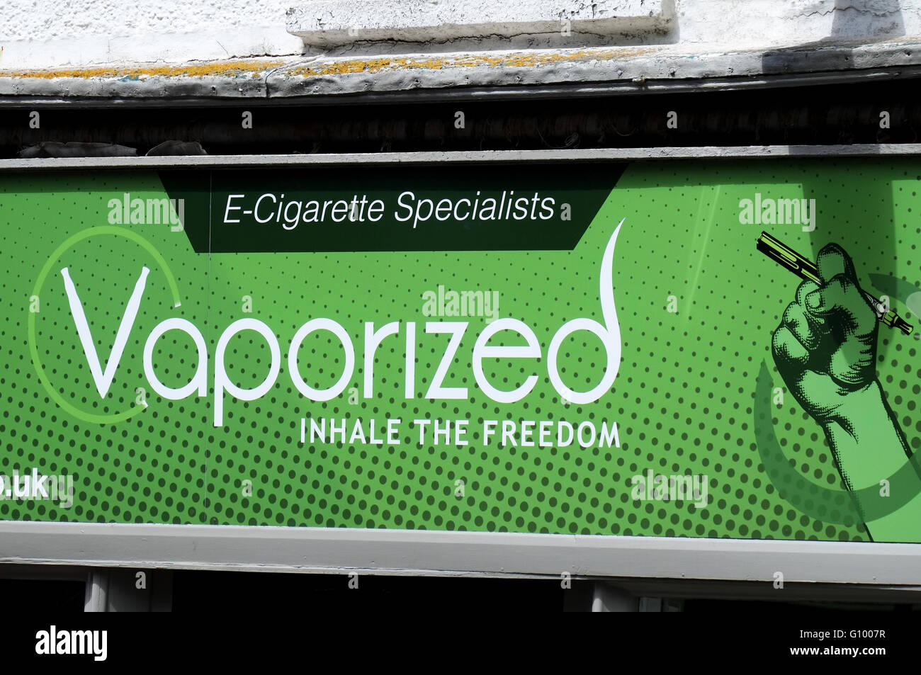 Vaporized E-Cigarette shop - Stock Image