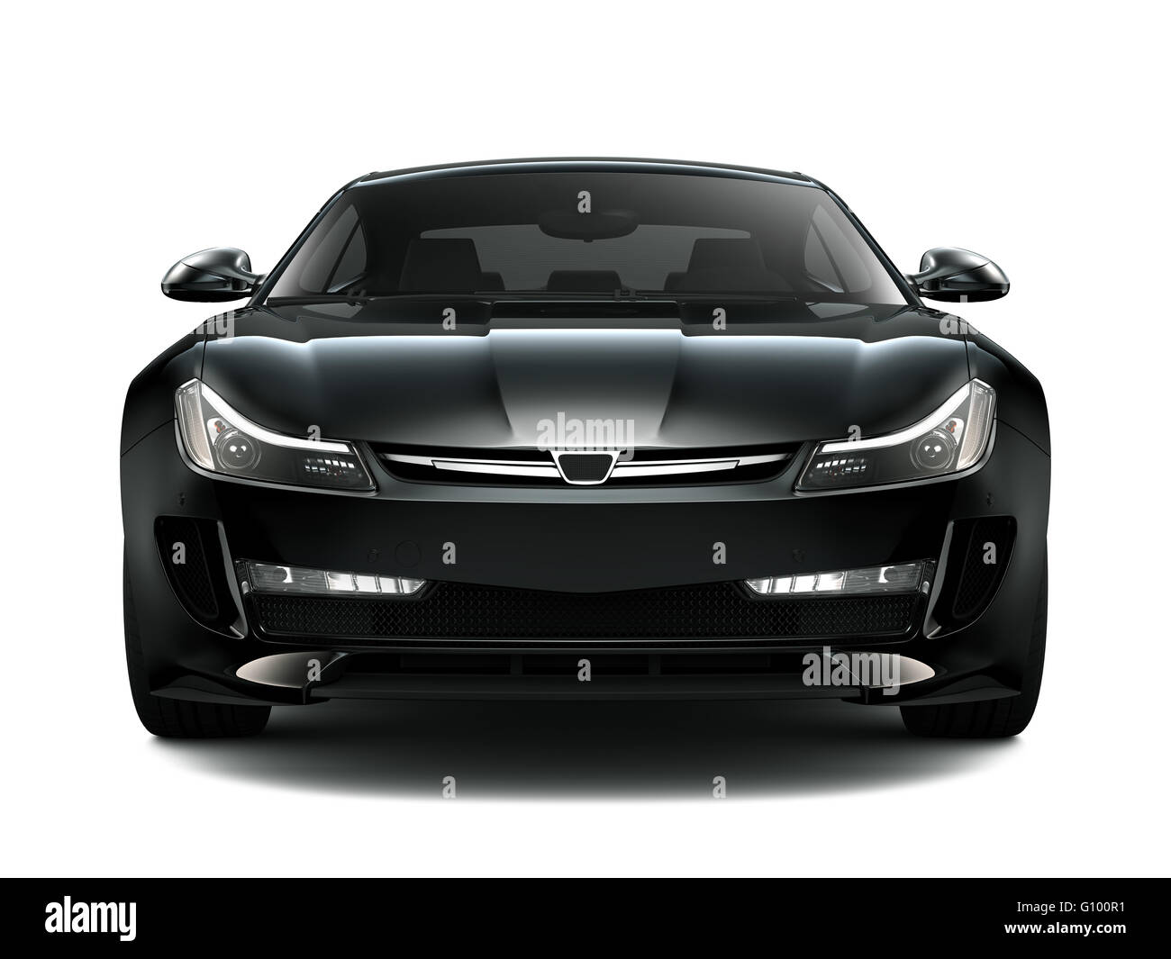 Black Sports Generic Car Front View Stock Photo 103877509 Alamy