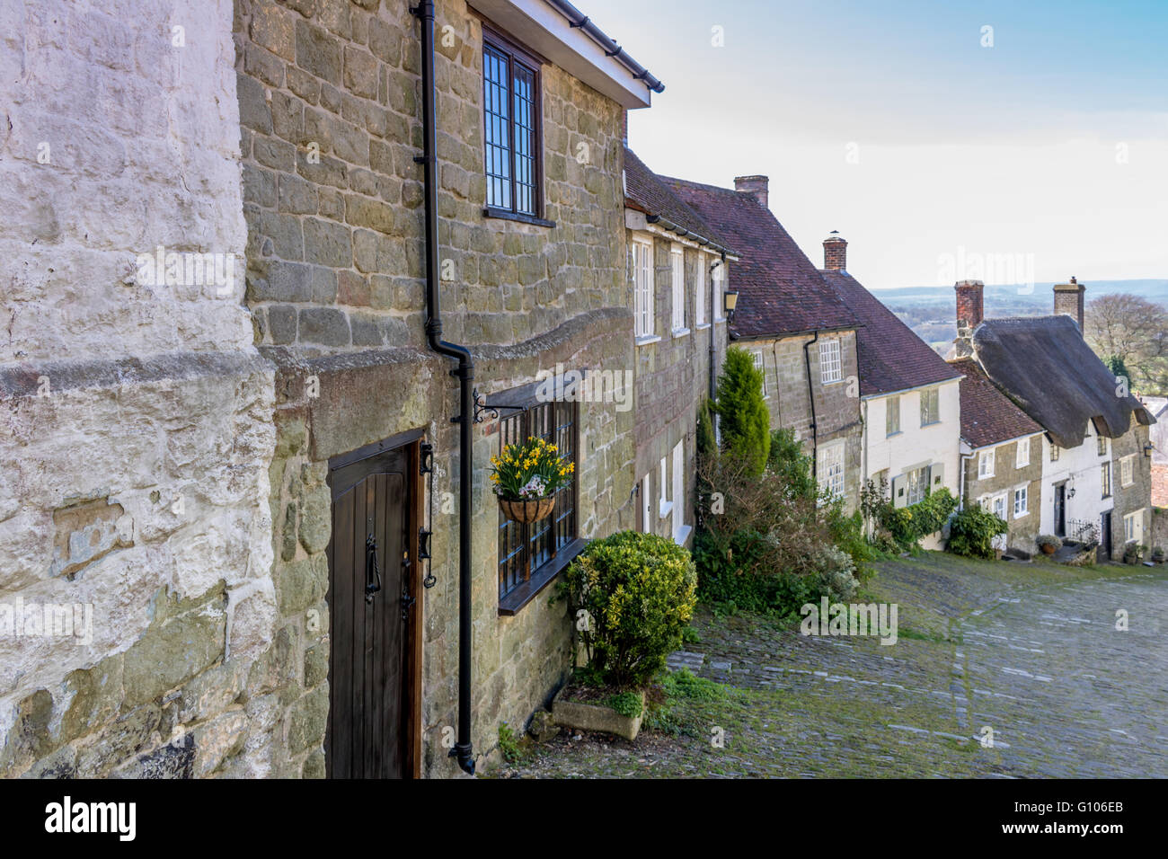 England Dorset Shaftesbury Gold Hill - Stock Image
