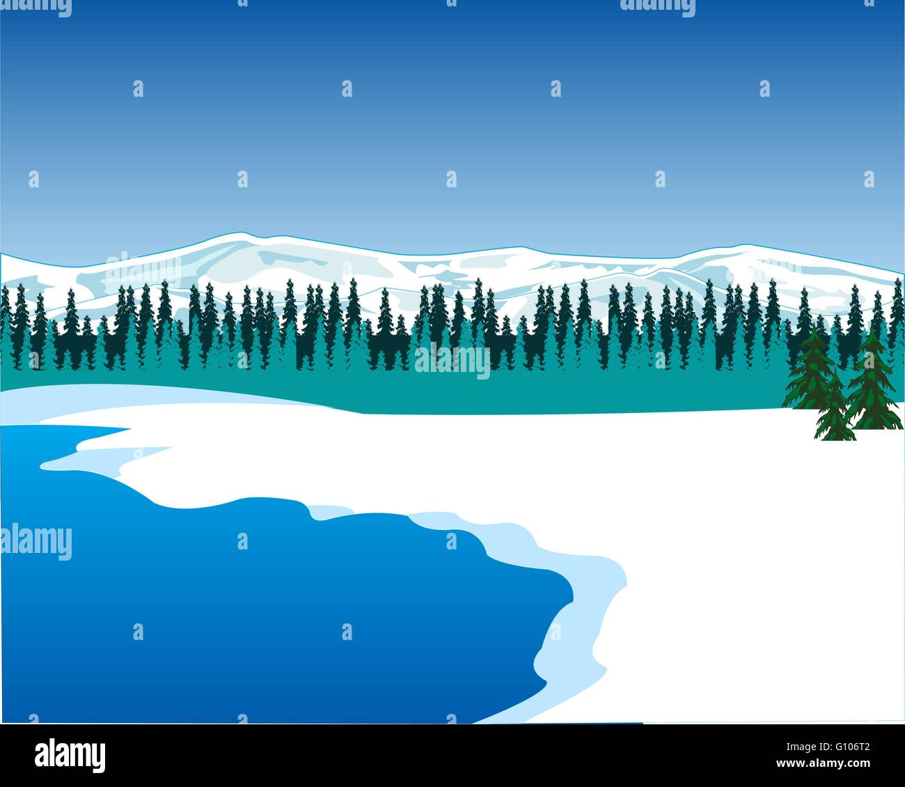 The Landscape of the seaside north epidemic deathes.Vector illustration - Stock Vector