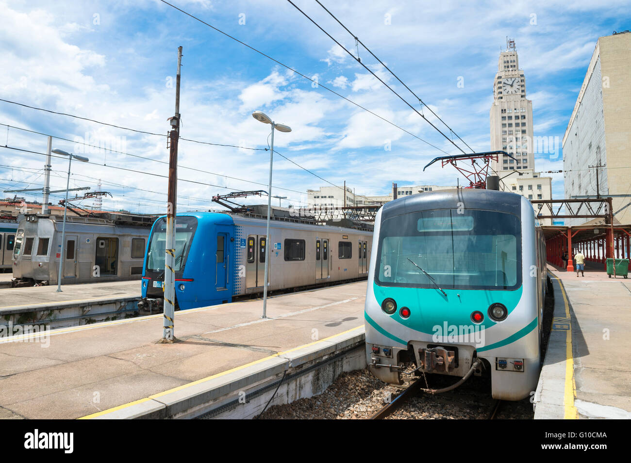 RIO DE JANEIRO - MARCH 4, 2016: SuperVia Trains at Central do Brasil station will transport spectators to Olympic - Stock Image