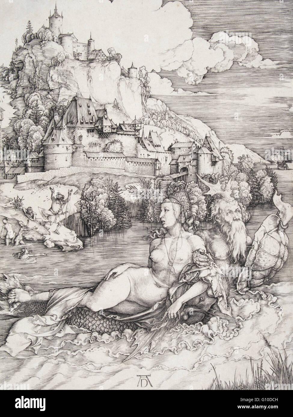 Albrecht Durer - The Sea Monster   - University of Michigan Museum of Art - Stock Image