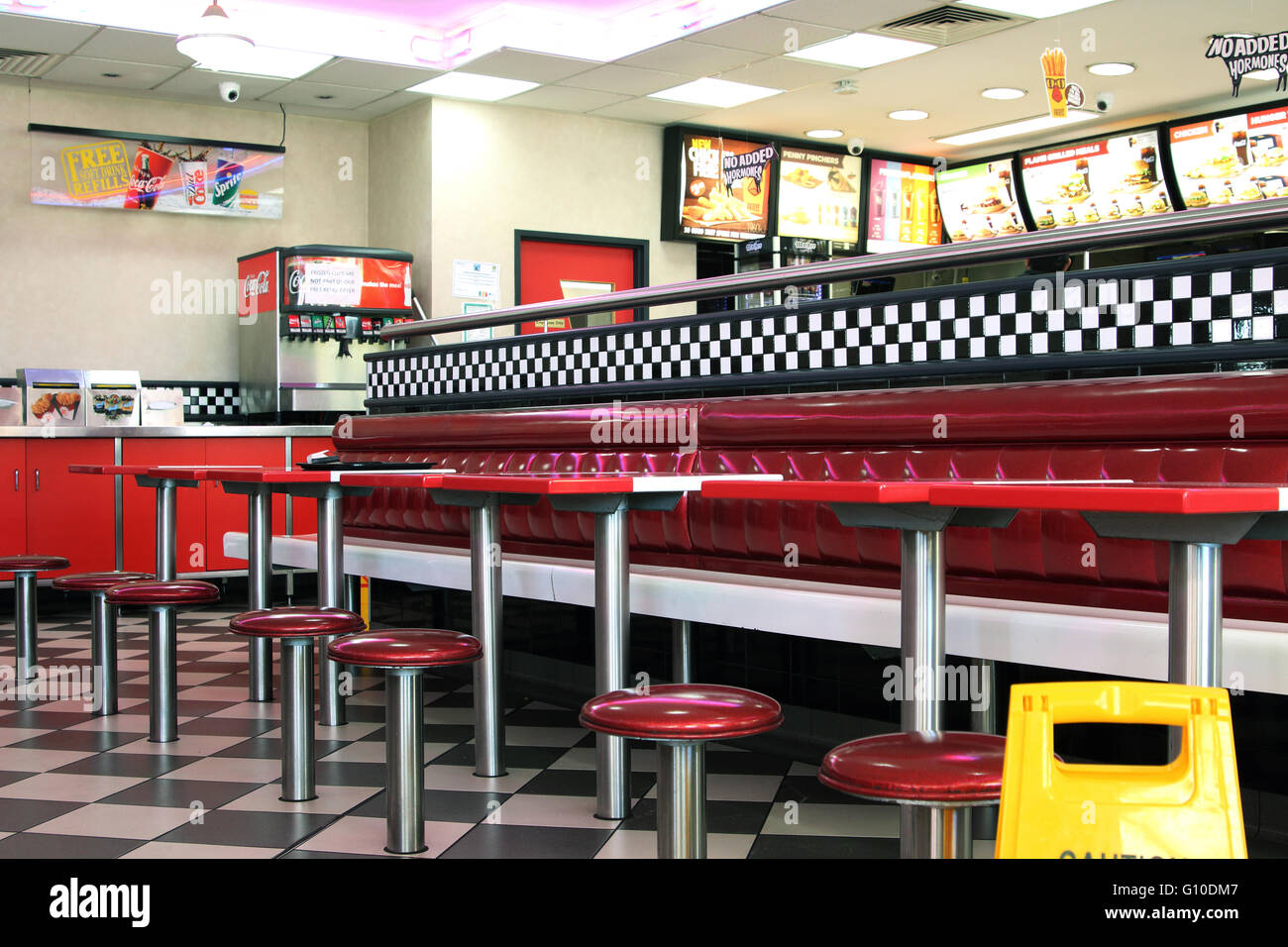 Fast Food Shop Interior High Resolution Stock Photography And Images Alamy