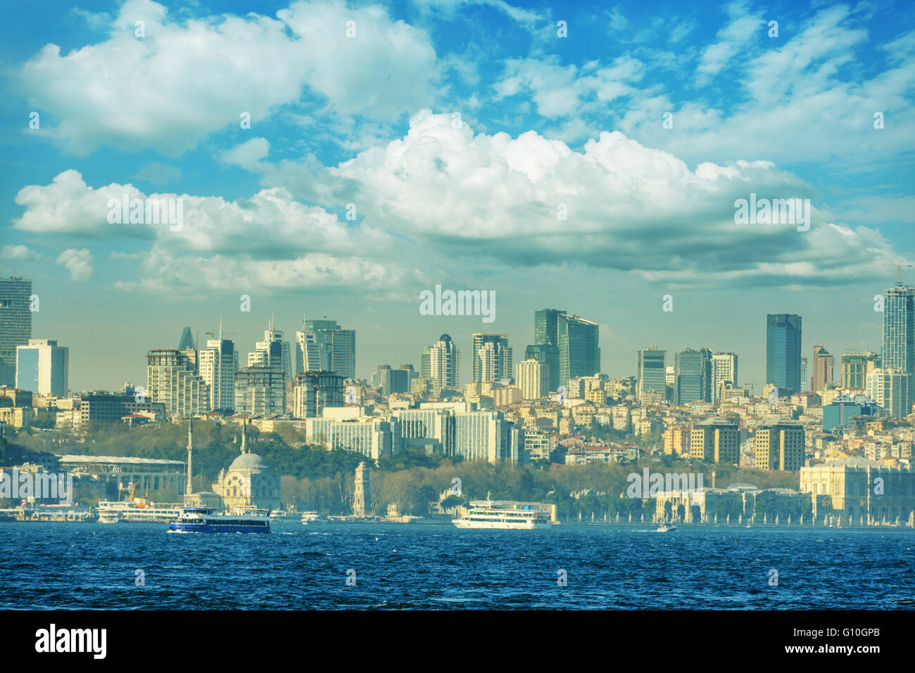 view of istambul city, Turkey - Stock Image