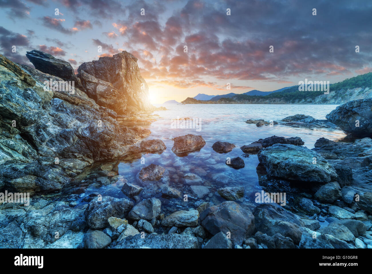 Amazing Mediterranean seascape in Turkey - Stock Image