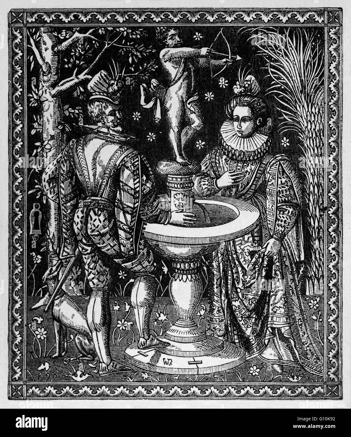 The Wedding Casket of  Philip II of Spain on his marriage to  Mary I in 1554. He was King of Spain, King of Portugal, Stock Photo