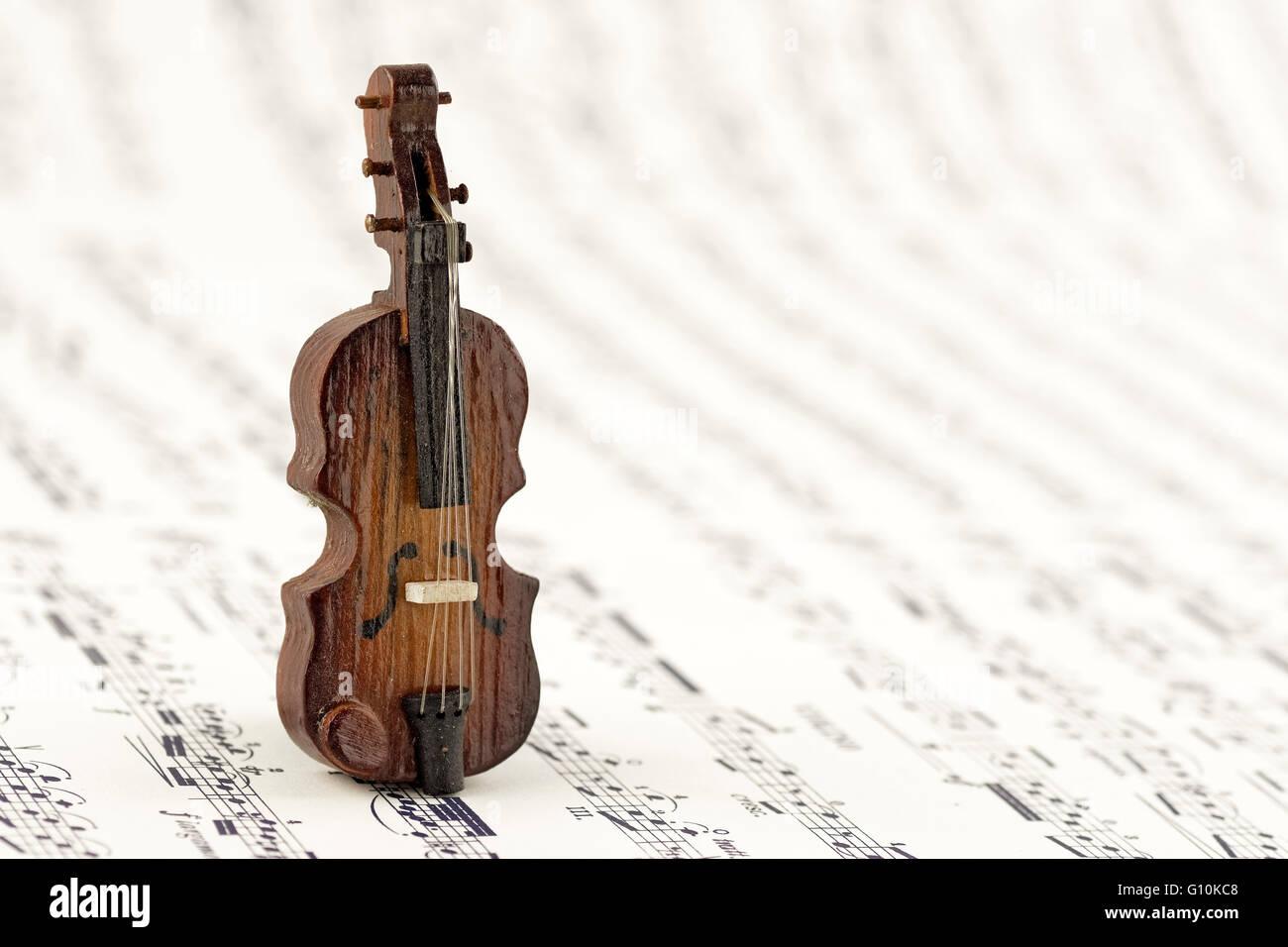 Miniature of a viola. - Stock Image