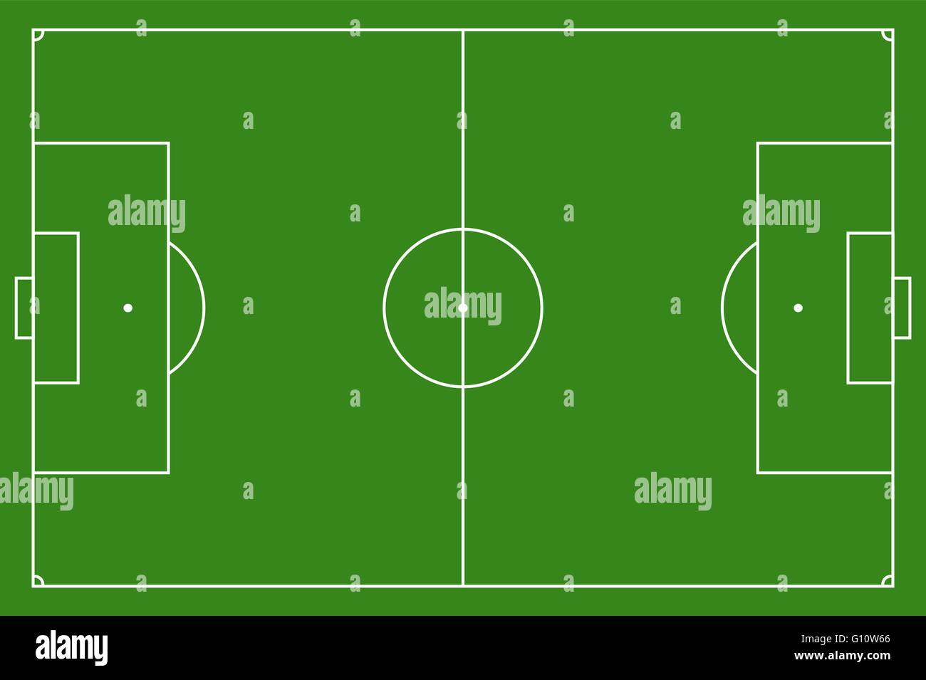 Soccer Field Vector Illustration Football Field With