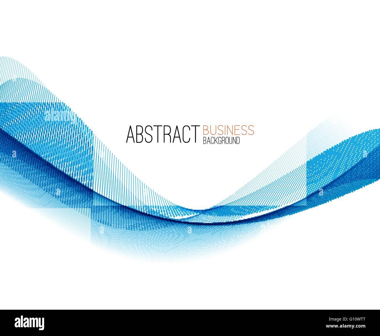 Abstract Color Blue Wave Design Element Vector Blue Wave