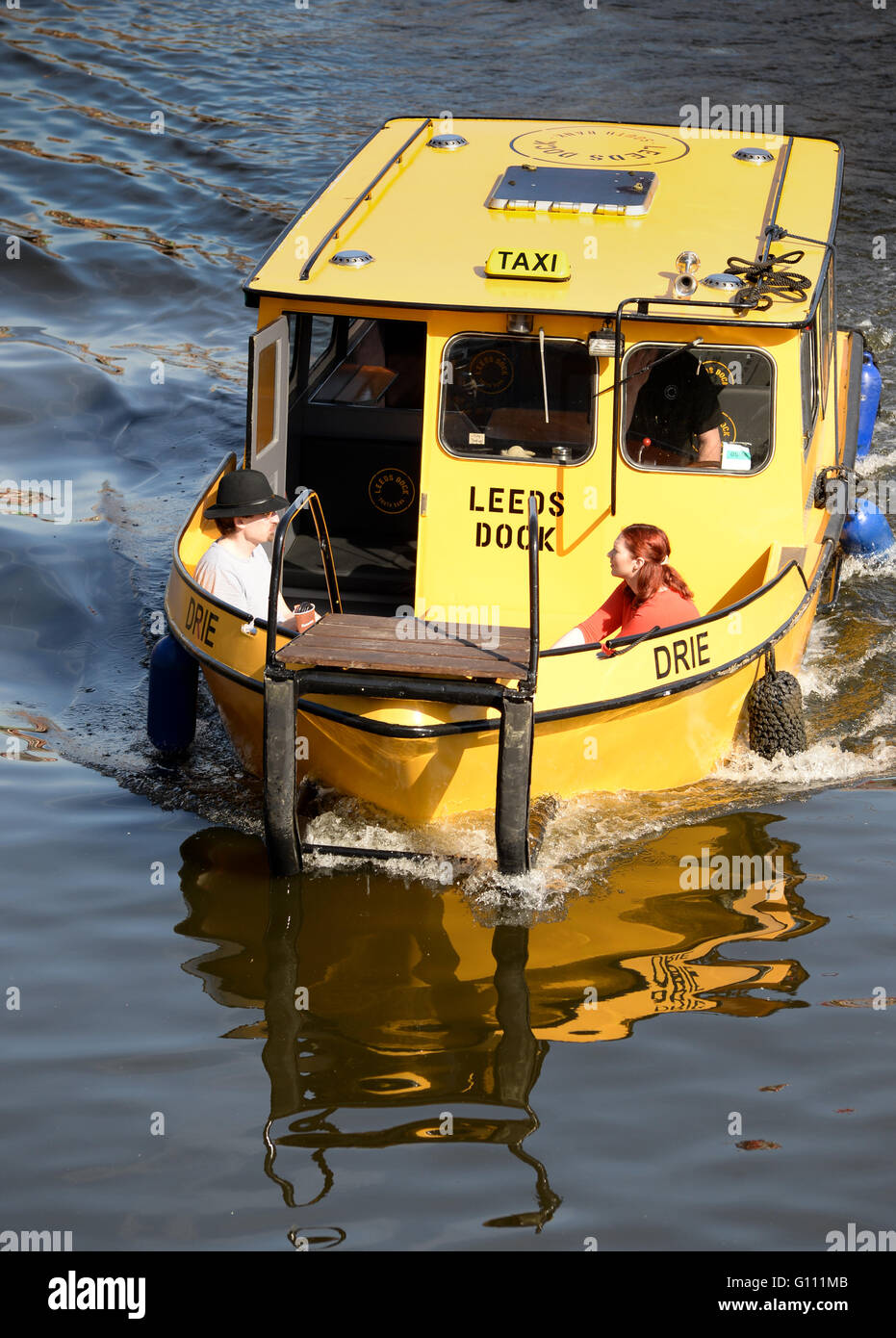 Free river taxi in Leeds - Stock Image