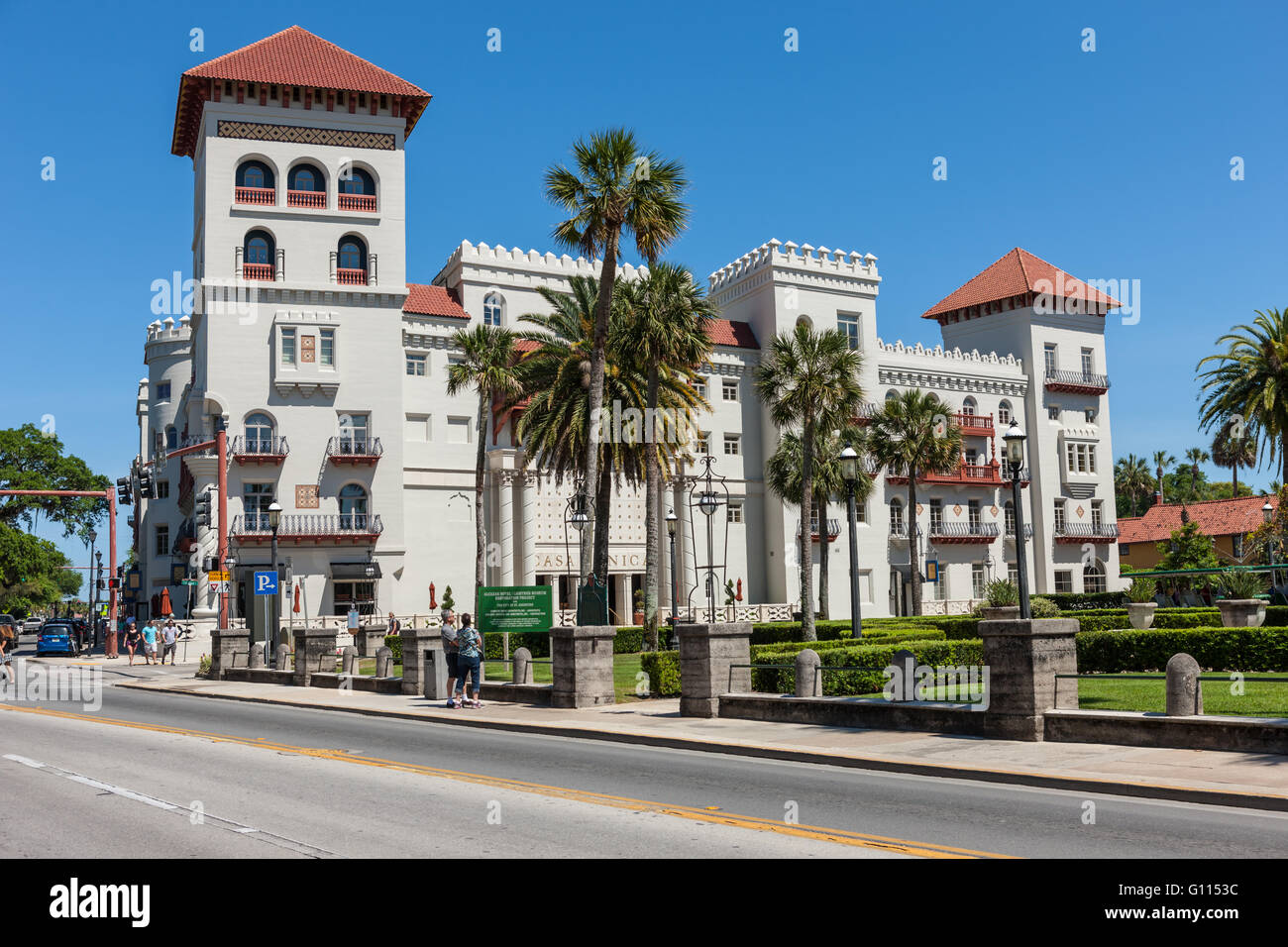 The historic Casa Monica Hotel in St. Augustine, Florida. - Stock Image