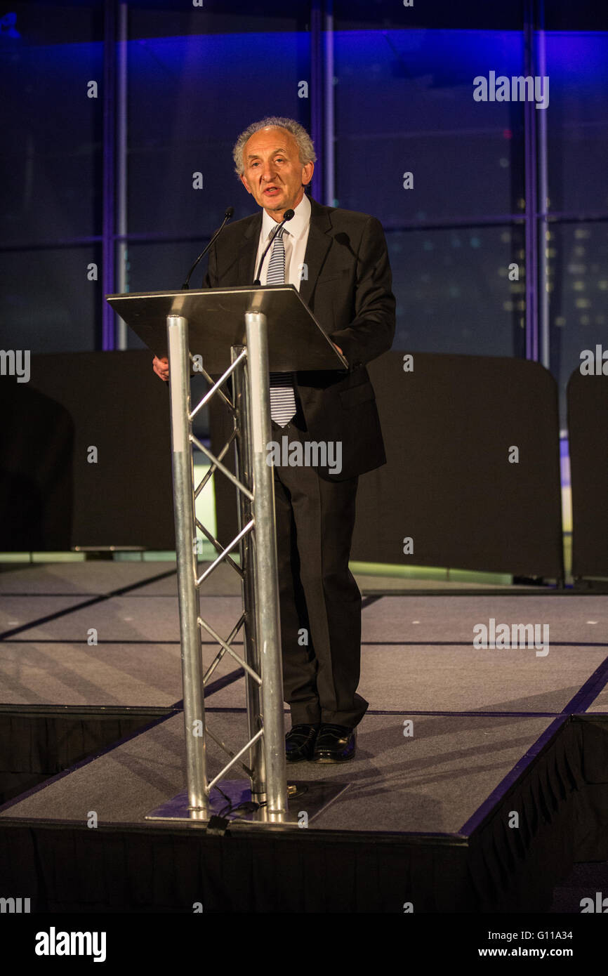 London, UK. 7th May, 2016. Jeffrey Jacobs, Greater London Returning Officer, announces the results of the London - Stock Image