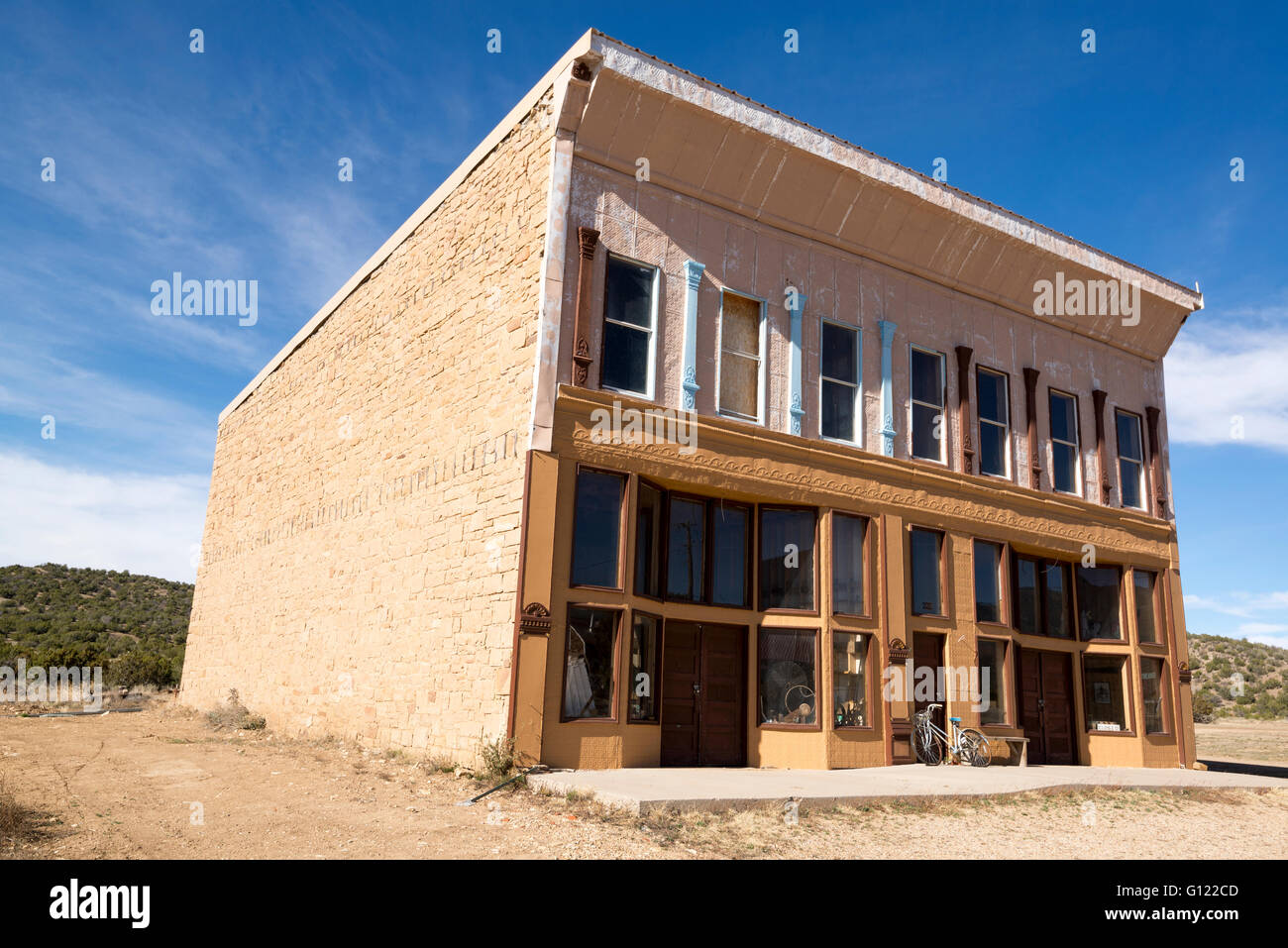Historic Brown Store in White Oaks ghost town, New Mexico. - Stock Image