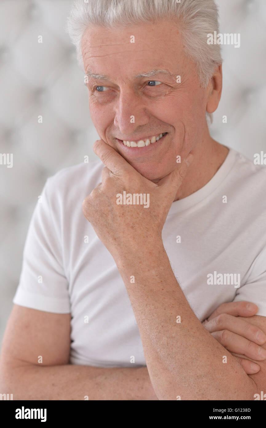 happy senior man - Stock Image