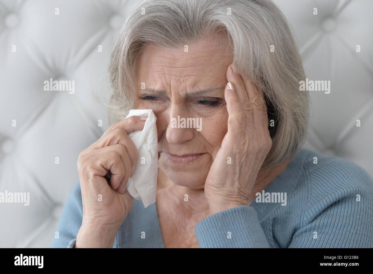 Senior woman portrait - Stock Image