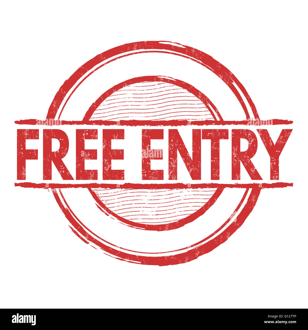 Free entry grunge rubber stamp on white background, vector illustration - Stock Image