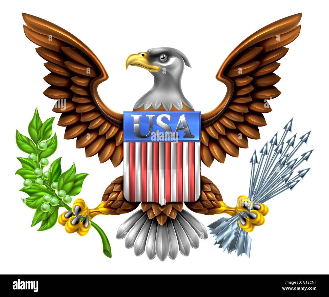 American Eagle Design With Bald Eagle Like That Found On The Great
