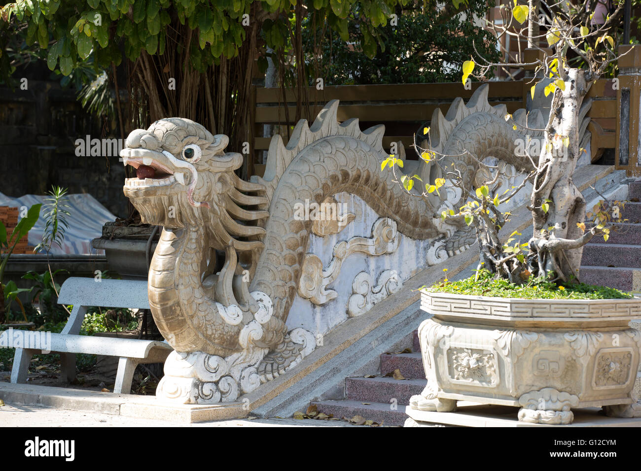 Long Son Pagoda is a Buddhist Temple in Nha Trang Vietnam Stock Photo