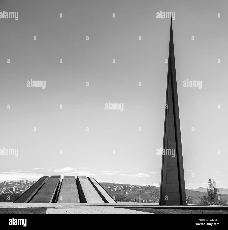 Armenian genocide memorial monument - Stock Image