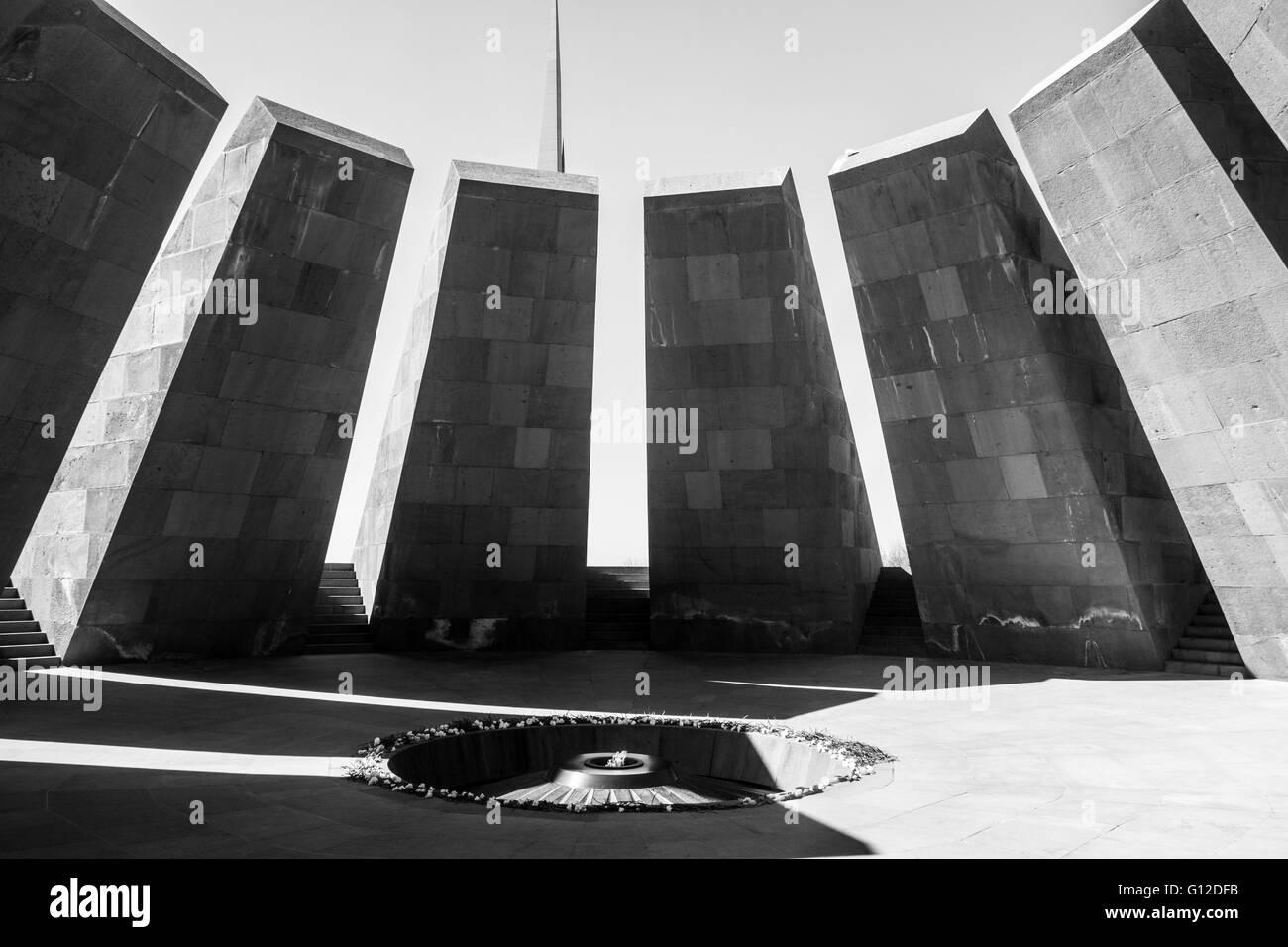 Armenian genocide memorial - Stock Image