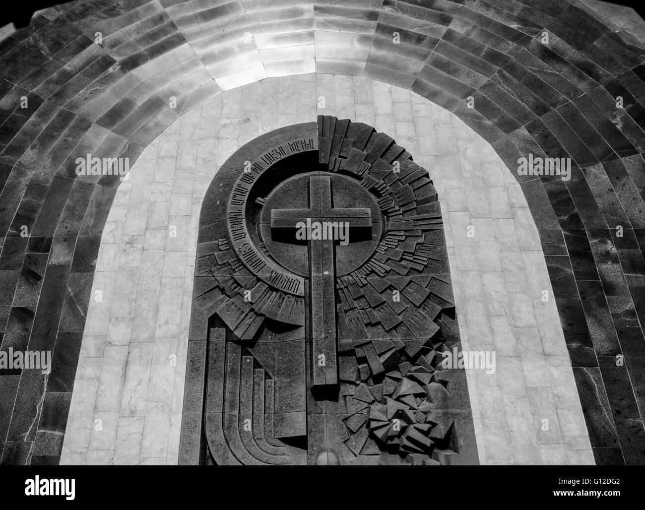Armenia, Yerevan   Christian Monument - Stock Image