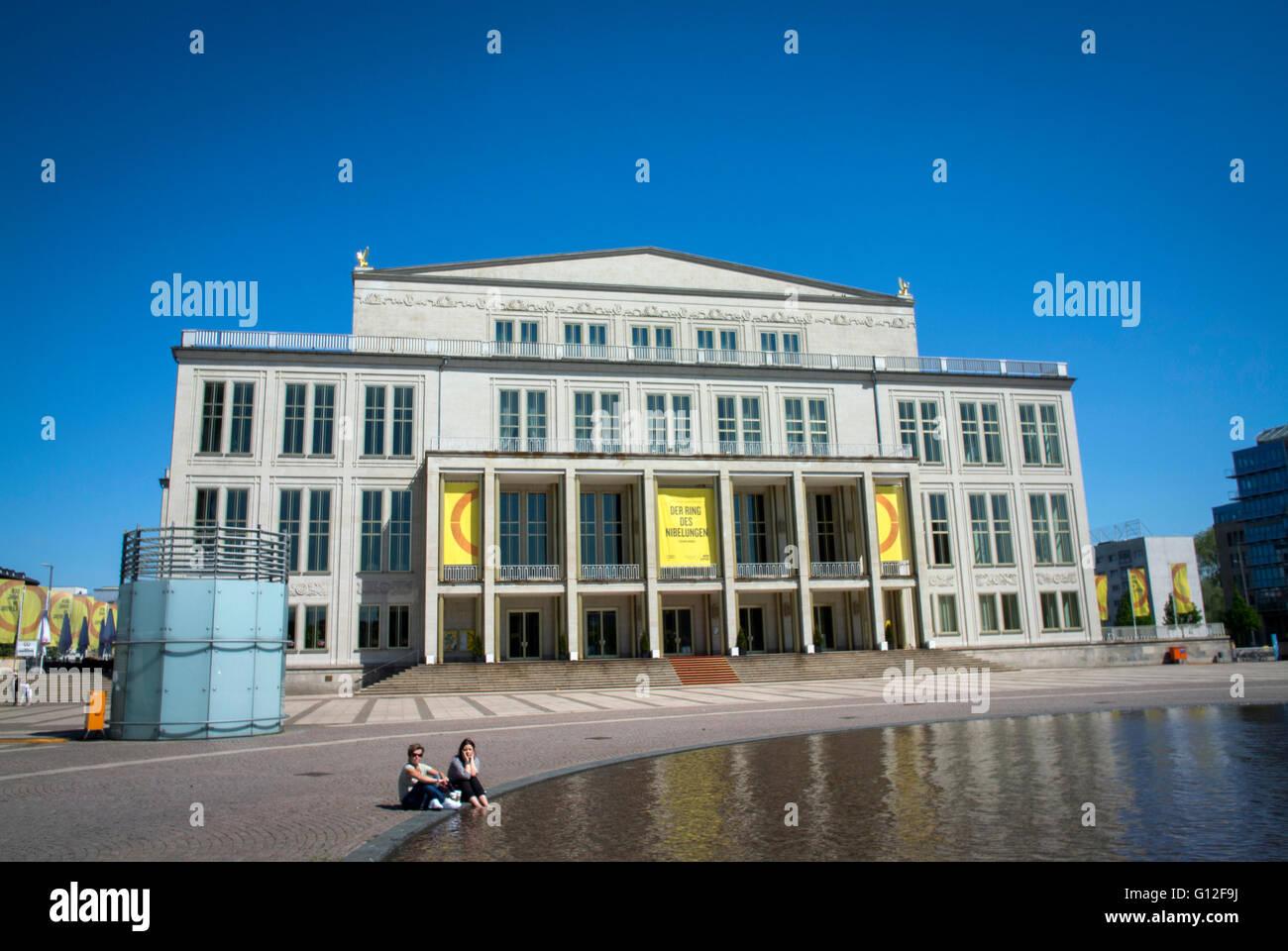 Leipzig Opera House At The Augustusplatz In Leipzig Germany Stock Photo Alamy