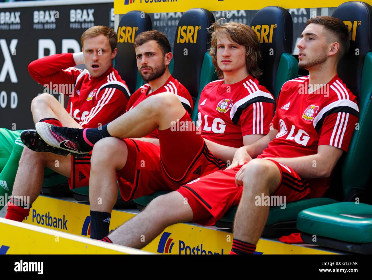 sports, football, Bundesliga, 2015/2016, Borussia Moenchengladbach versus Bayer 04 Leverkusen 2:1, Stadium Borussia - Stock Image
