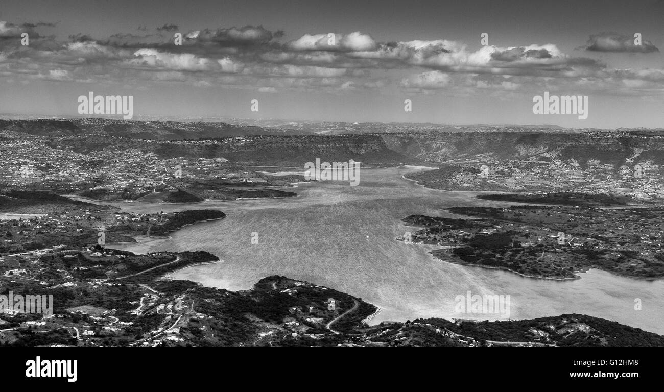 Inanda Dam viewed from Inanda mountain Stock Photo