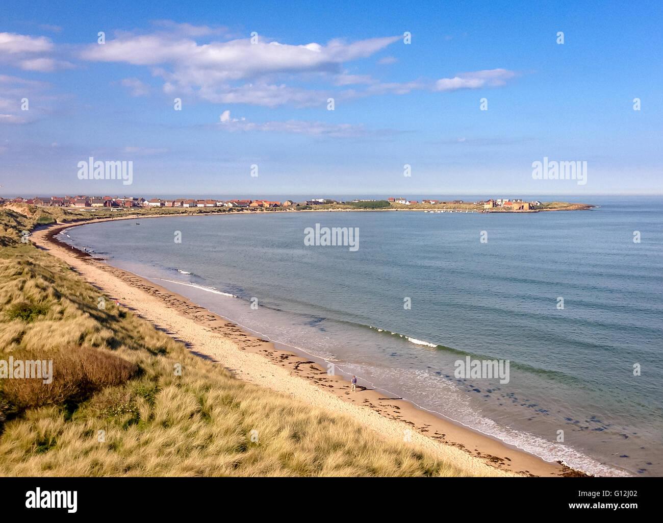 Pretty Beadnell Bay............. Stock Photo
