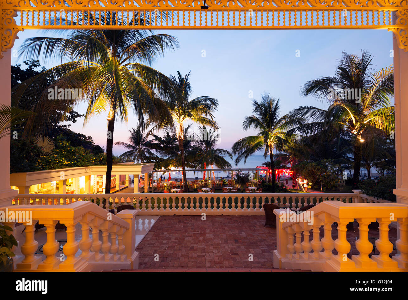 South East Asia, Vietnam, Phu Quoc island, Hotel La Veranda, Long Beach resort - Stock Image