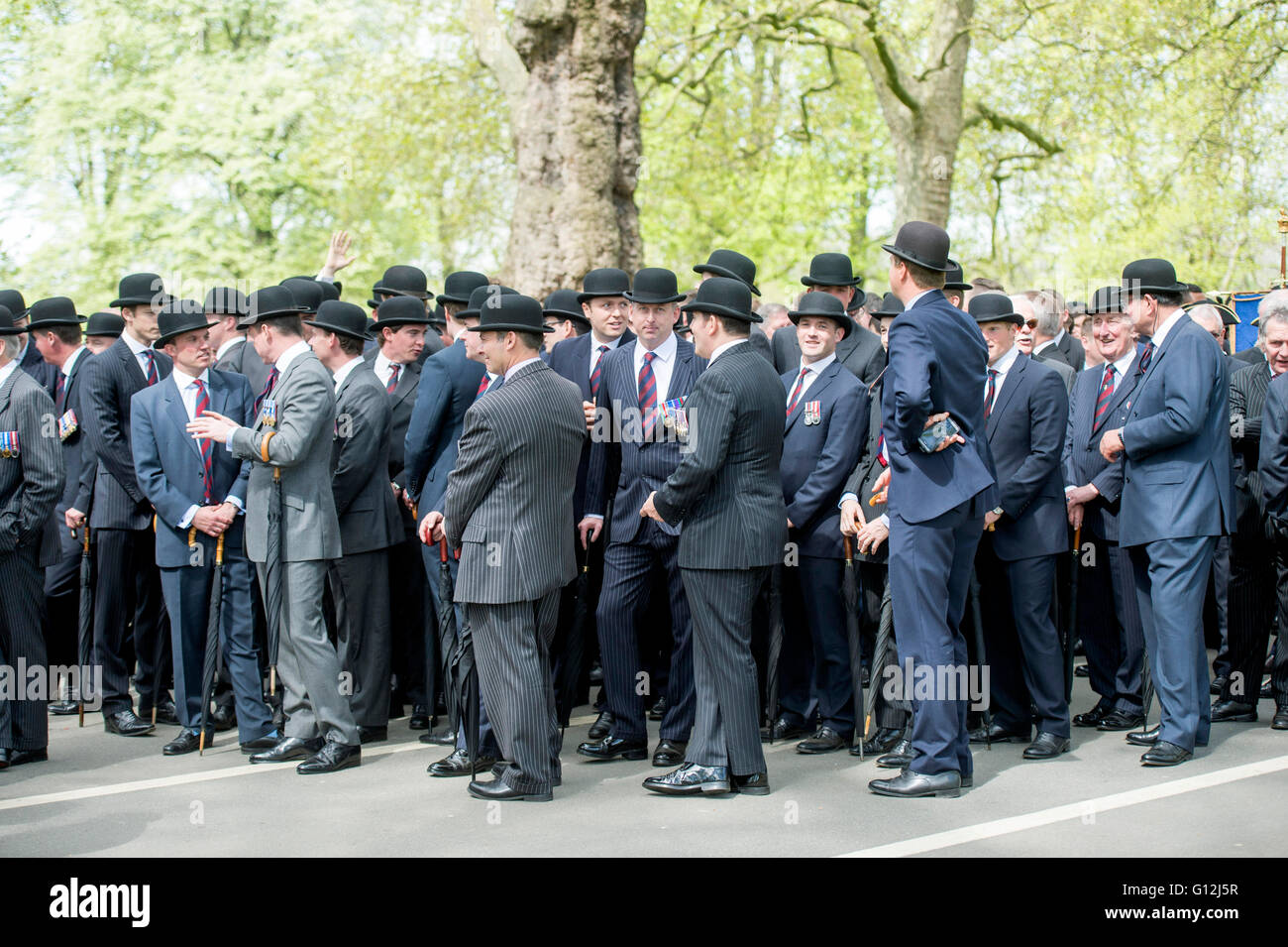 Hyde park. Pic Shows The Annual parade of the Combined Cavalry Old Comrades consisting of serving and former Cavalry - Stock Image