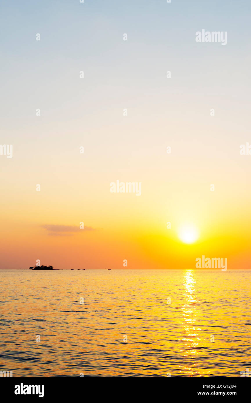South East Asia, Vietnam, Phu Quoc island, sunset - Stock Image