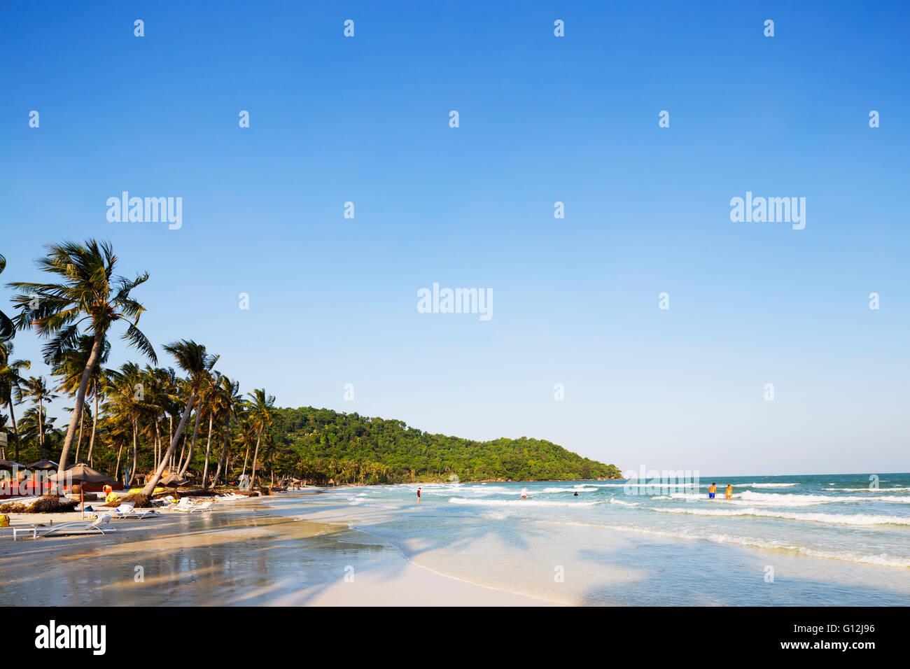 South East Asia, Vietnam, Phu Quoc island, Bai Sao beach - Stock Image