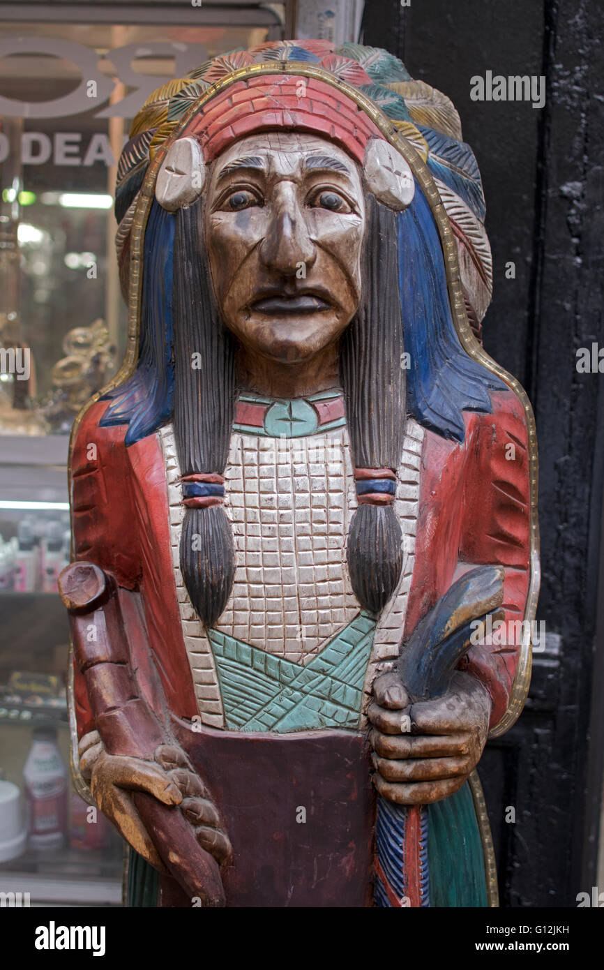 Indian Smoke Shop >> A Cigar Store Indian Sculpture Outside Of The Classic Smoke