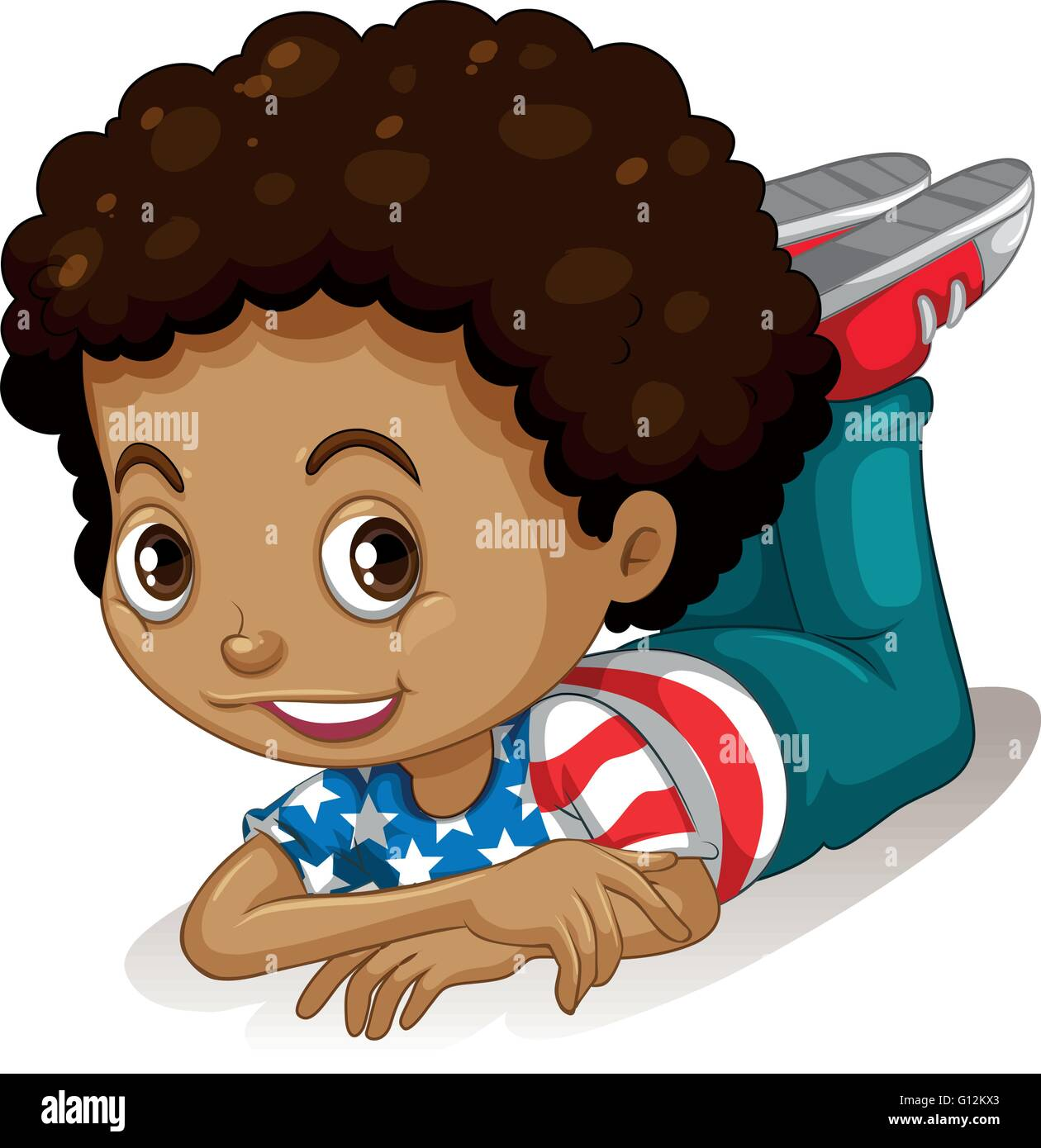 Little Boy Curly Hair Illustration High Resolution Stock Photography And Images Alamy