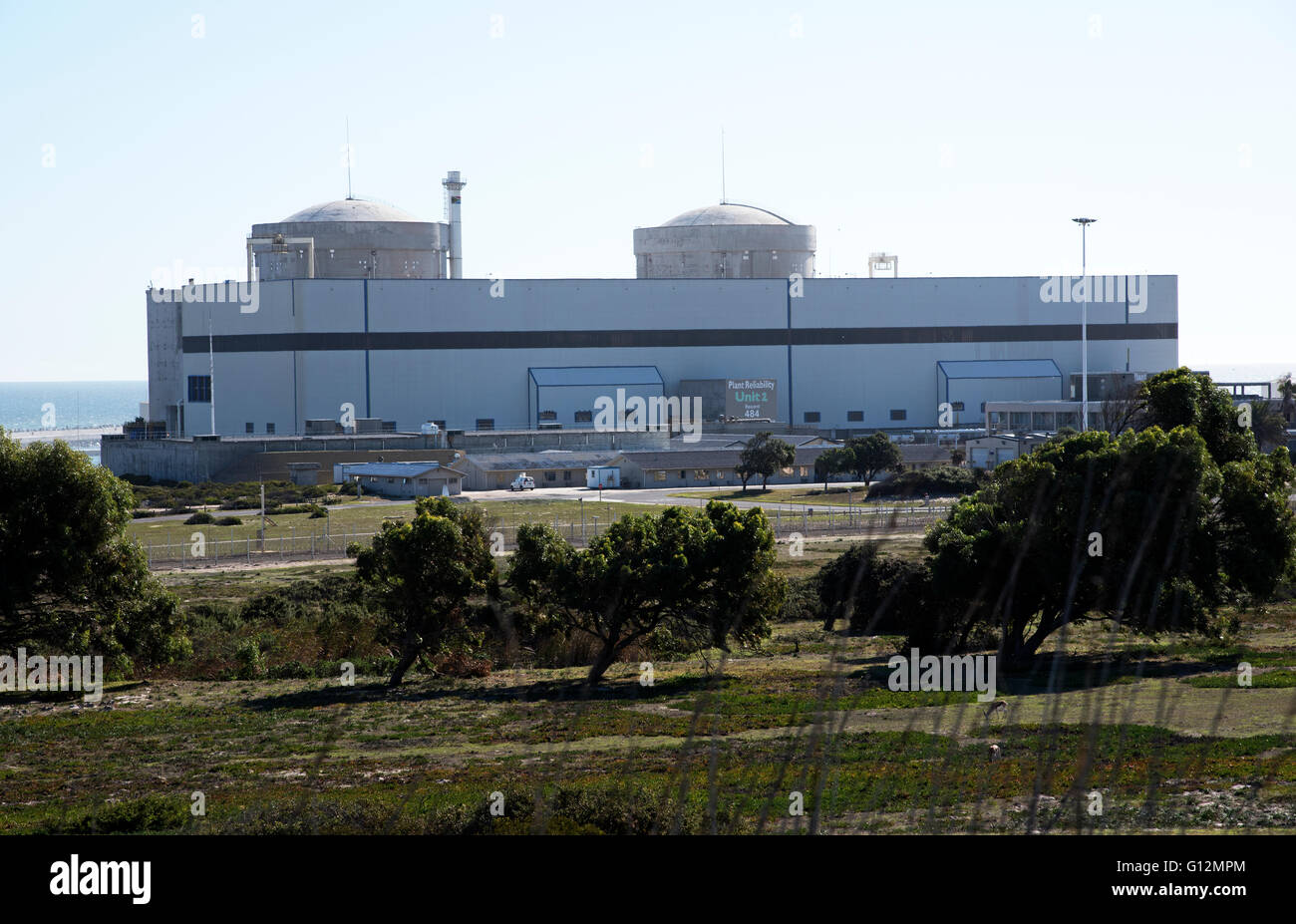 THE KOEBERG NUCLEAR POWER STATION NORTH OF CAPE TOWN SOUTH AFRICA . Koeberg is the only nuclear power station in - Stock Image