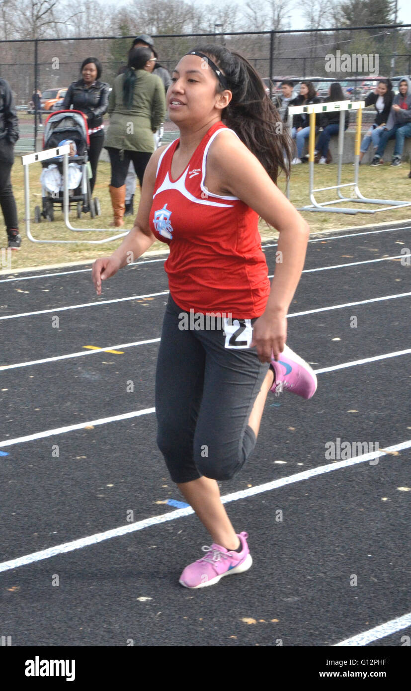 runner in  a track meet - Stock Image