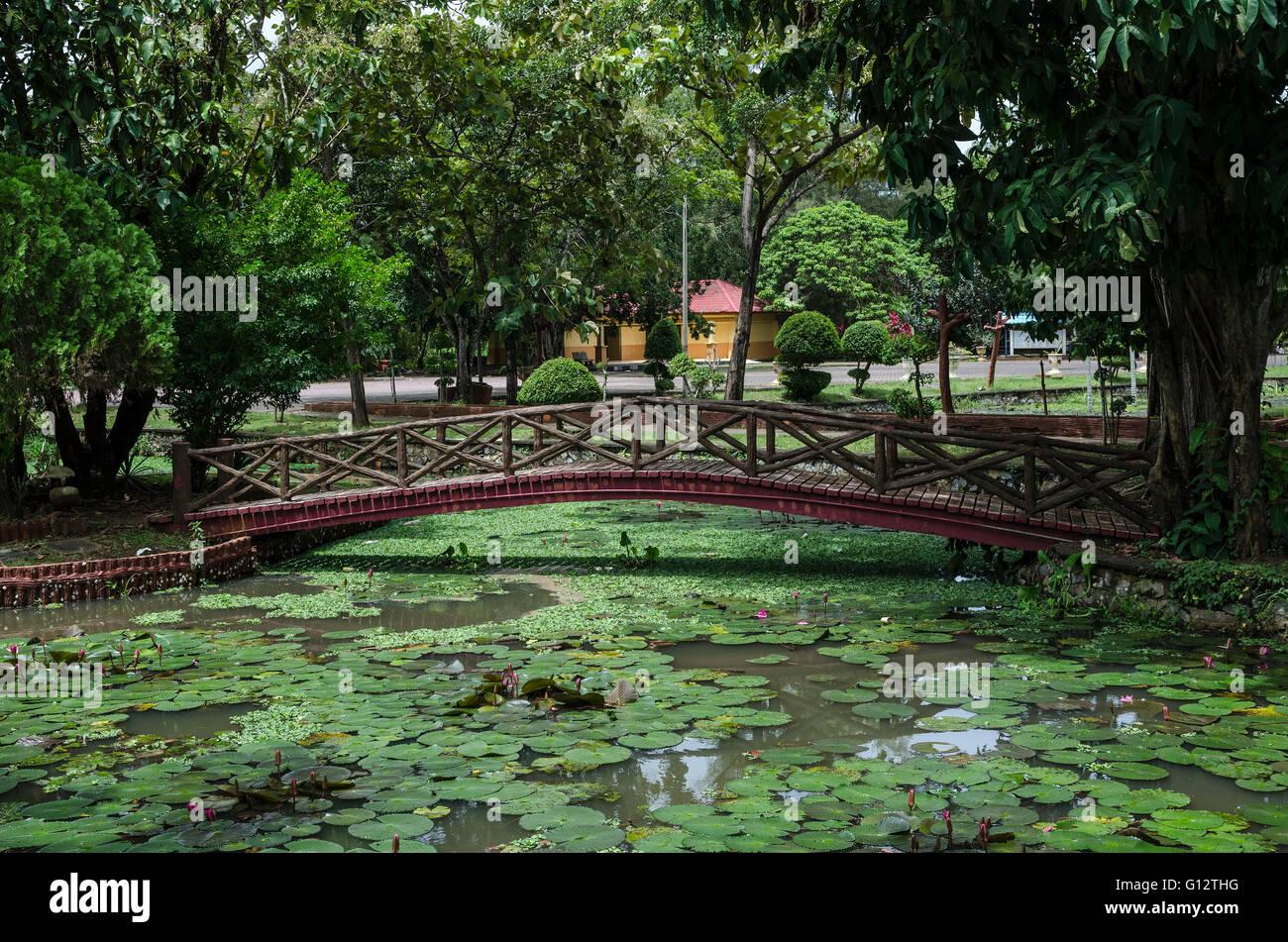 Taman Rekreasi Tasik Melati, Perlis, Malaysia. Tasik Melati is a wetland  famous for its lakes and its recreational - Stock Image