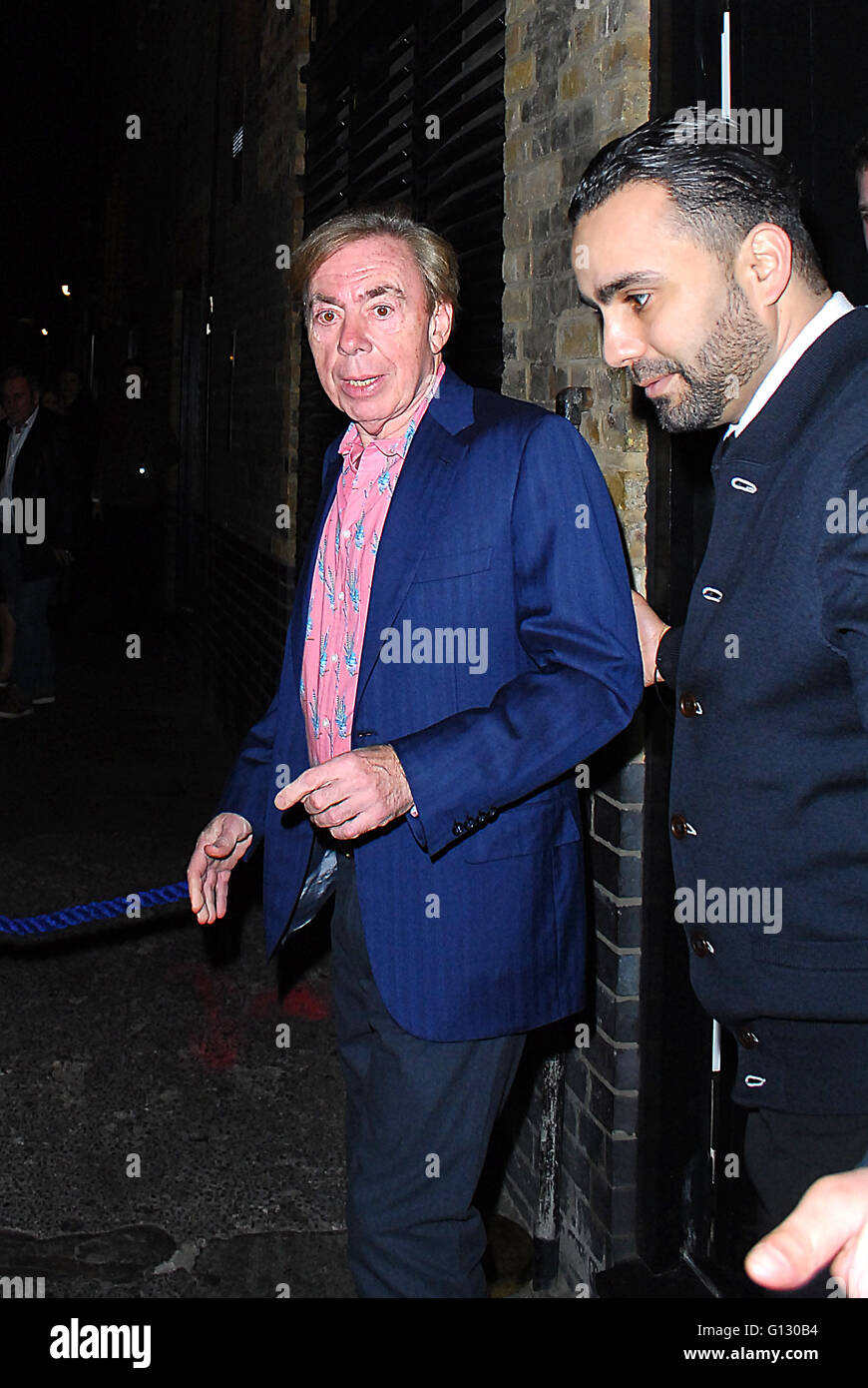 Celebrities leaving Chiltern Firehouse after Michael Mcintyre Stock