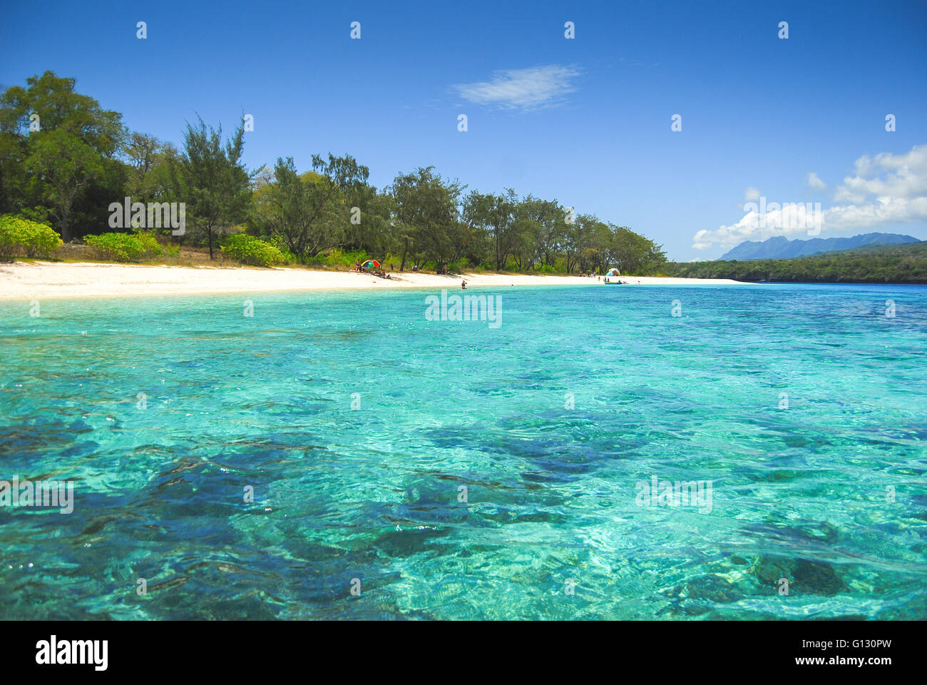 Tropical beaches on Jaco island in East Timor - Stock Image