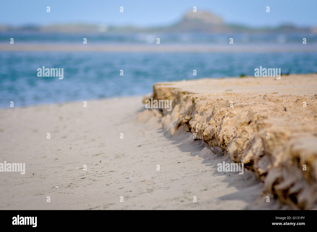 Budle Bay Sandy Bay Stock Photo