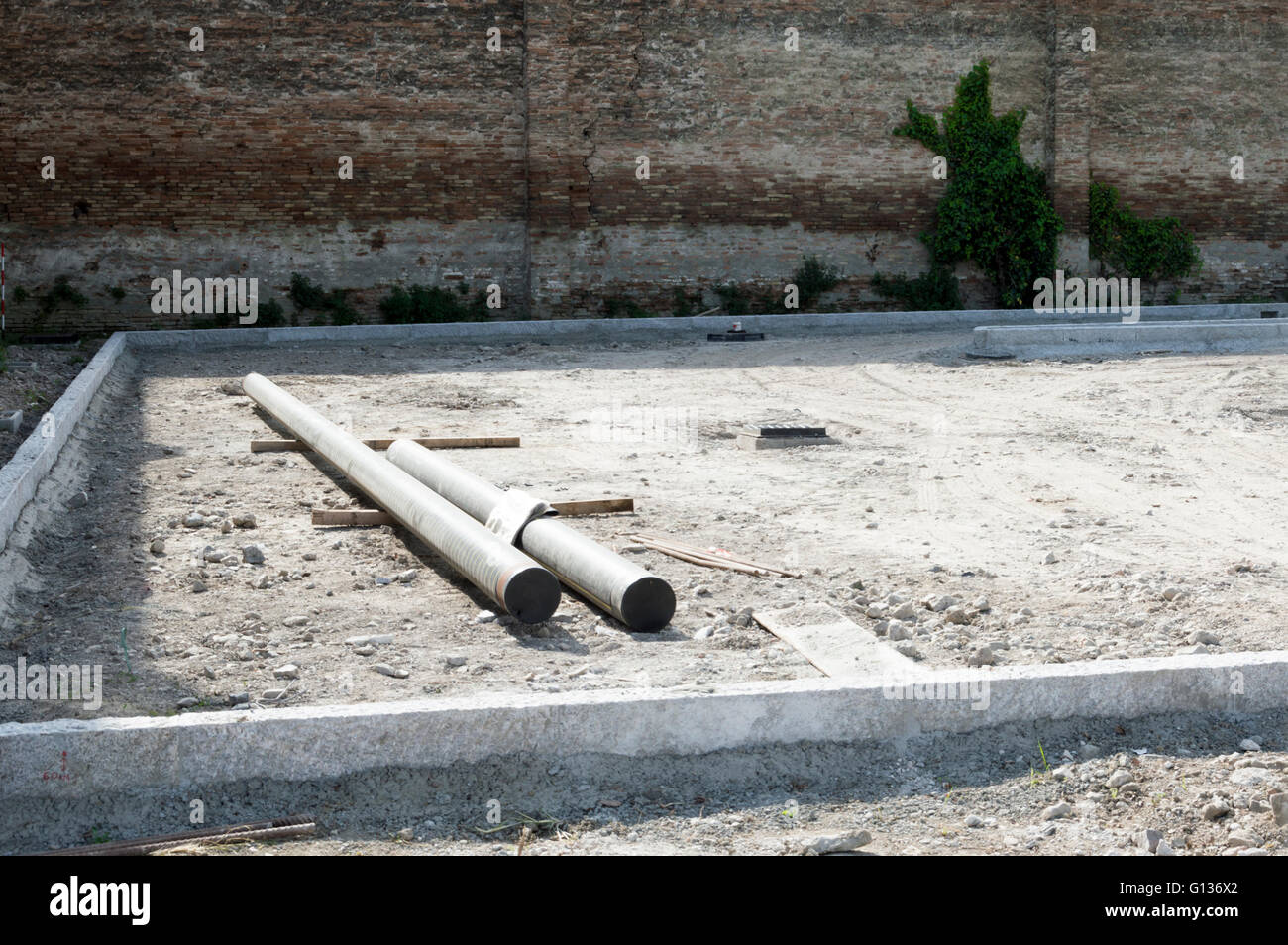 Construction site just started - Stock Image
