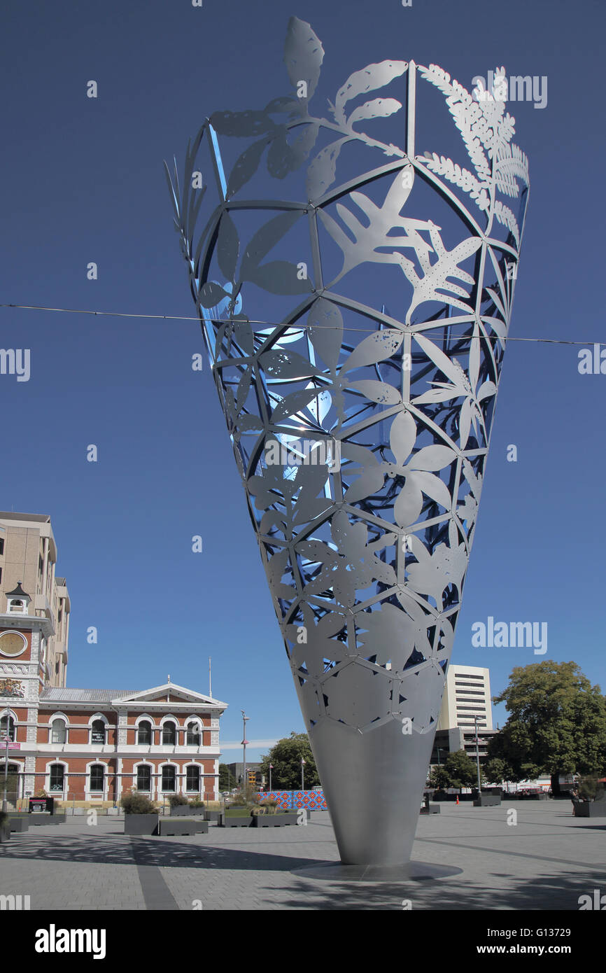 the chalice in cathedral square christchurch new zealand south island - Stock Image
