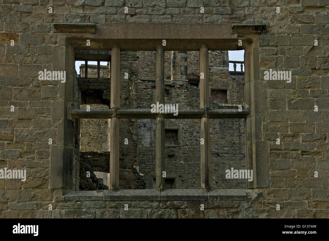 Window to the Past, Hardwick Hall Chesterfield Derbyshire Stock Photo